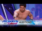Azeri Brothers: Scary Dudes Freak Out the Audience with Torture Stunts - Americas Got Talent 2017