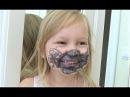 Алиса настоящая Бэд Беби BAD BABY Разрисовала себя фломастером ! Видео для детей