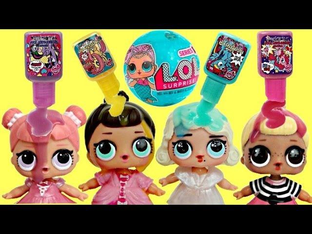 L.O.L. Surprise Doll (Pees, Cries, Color Change, Spits) Bad Baby Bath Time PRANK Finger Paint TUYC