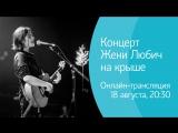 Концерт Жени Любич на крыше в рамках Roof Music Fest. Онлайн-трансляция