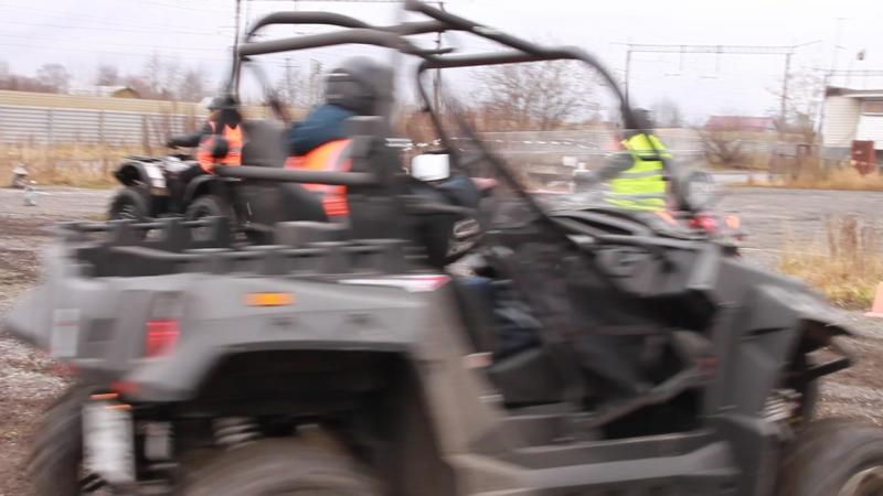 Практическое занятие на трактородроме. Квадроцикл и сайд-бай-сайд. Кат.