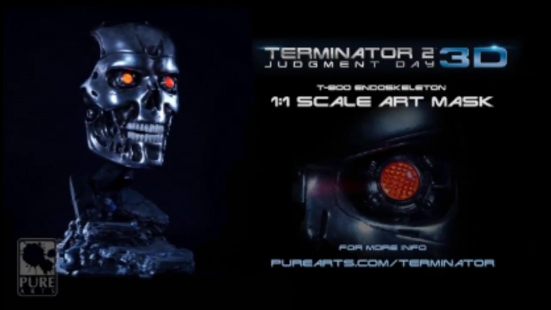 Terminator 2: Judgment Day 3D T-800 Art Mask Pre-Order