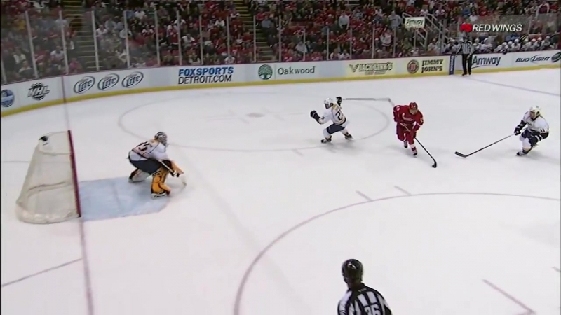 Datsyuk awesome goal Preds / Дацюк оставил в дураках Сутера, и пульнул в 9ку
