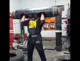 Jerry Pritchett (США), бревно - 195 кг, подготовка к АК - 2017!