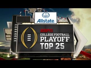 College Football Playoff: Top 25 / 31.10.2017 / EN