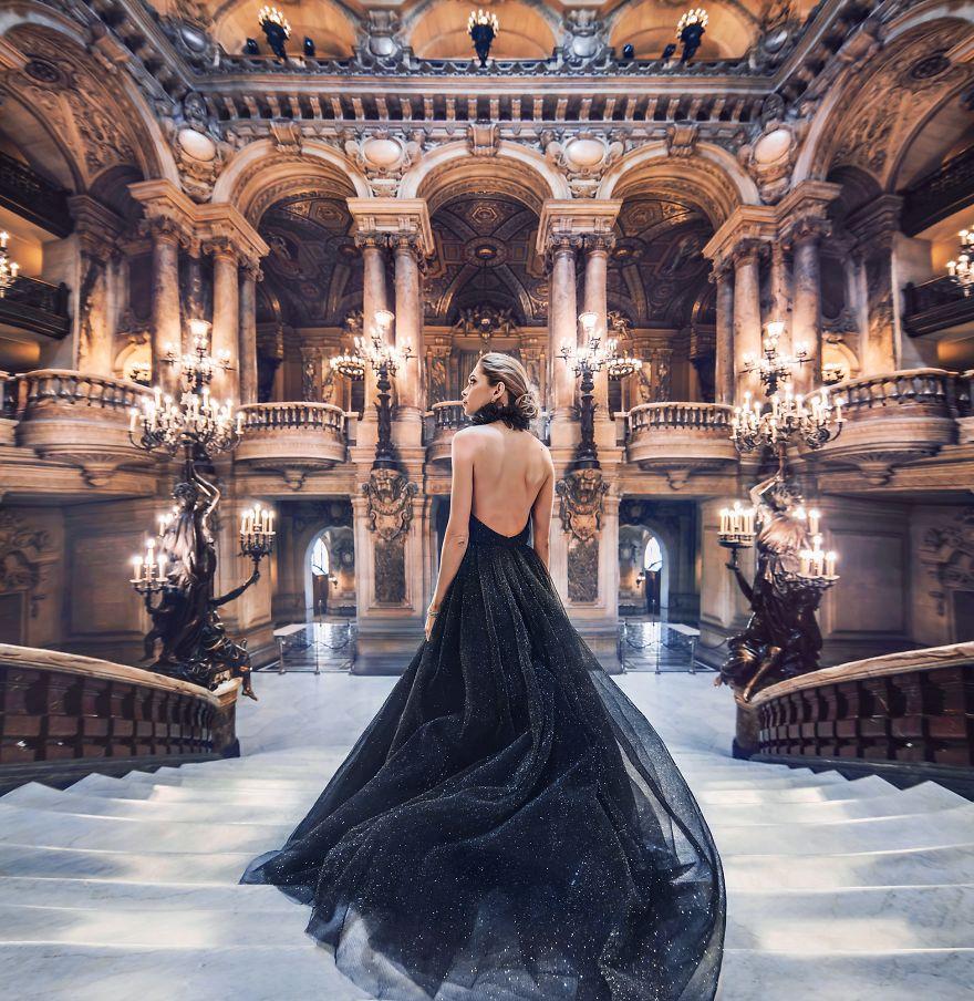 Фотографии красивых девушек в красивых платьях на фоне самых красивых в мире мест