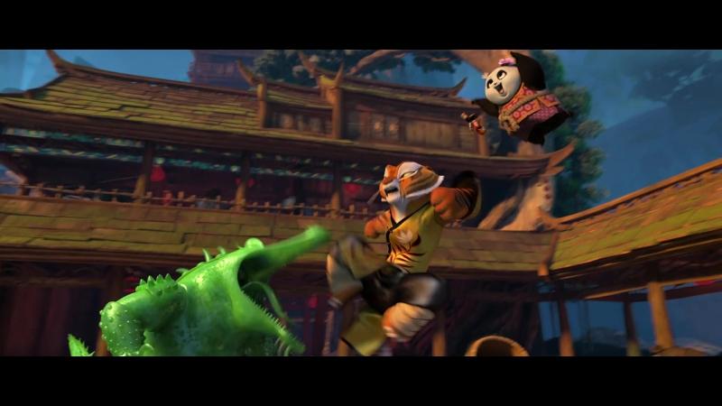 Кунг Фу Панда 3 Мастер Тигрица vs Мастер Крок