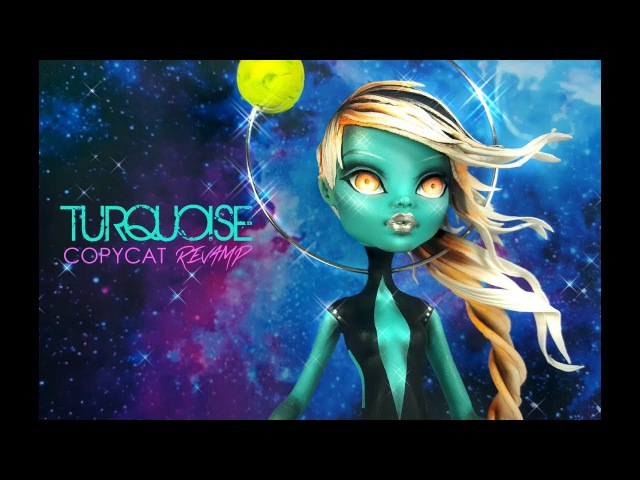 Doll Repaint | Figurine Steven Universe Turquoise Dou-Hong Deviantart OOAK Custom Monster High