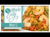 Healthy Meal Prep Menu 11 Shrimp Paella, Chilled Gazpacho, Mini Frittatas