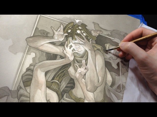 Painting Process: Queen of Humility (with narration)