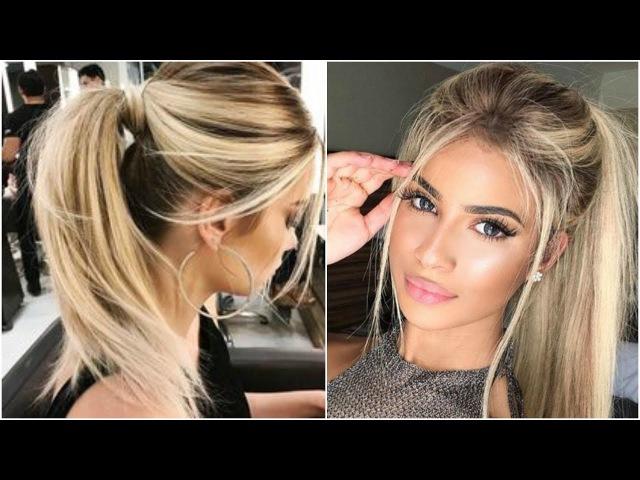 PEINADOS DE MODA Tumblr para cabellos largos Easy Hairstyles tutorial 2017