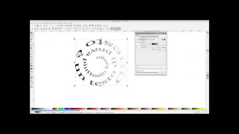 Inkscape - text spinning inward [eng]