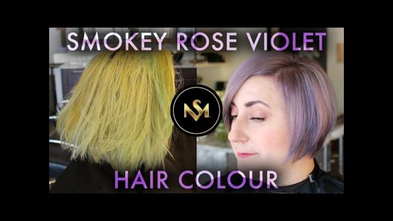 Smokey Rose Violet Hair Colour by Steven Mathew