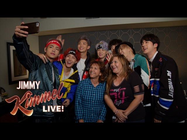 BTS Surprises Super Fans Their Moms on Kimmel
