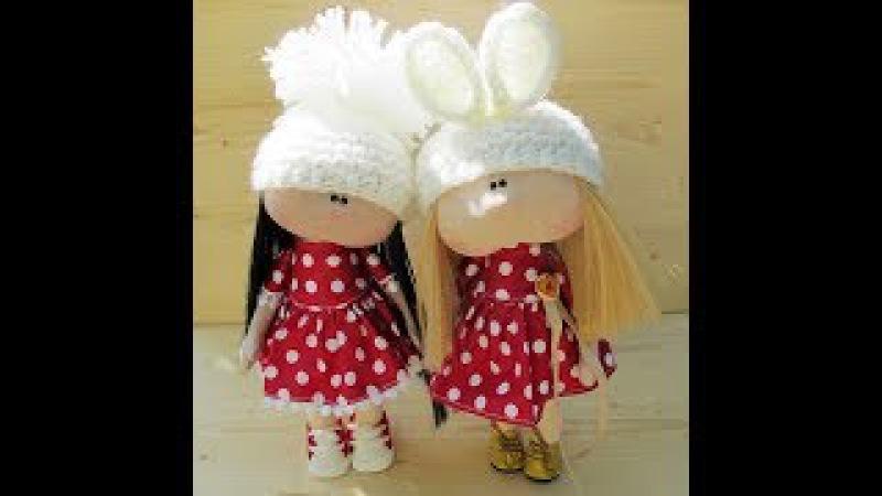 Мастер-класс шапочка с ушками и дополнение к мк по куколке Милашка