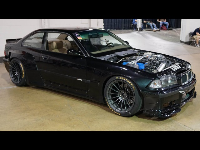 Wide Body Pandem Rocket Bunny E36 M3 With a 5.0l Ford