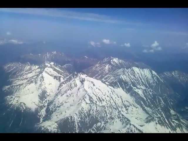 вид с самолёта на кавказские горы