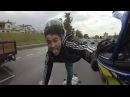 Daredevil risks life taking helmet selfie in dangerous motorway stunt before police arrest him