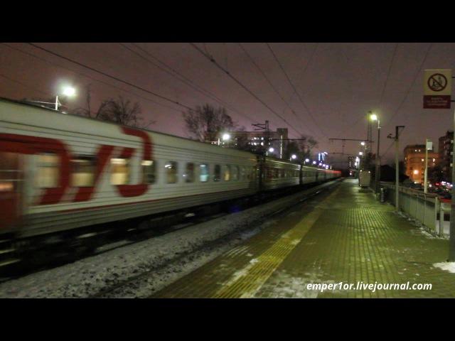 Электровоз ЧС7-011 с поездом №667 Москва - Великие Луки