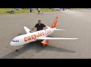 GIANT RC 1/9 SCALE EASYJET AIRBUS A319 AIRLINER - ANDY LMA RAF ELVINGTON AIRSHOW - 2015