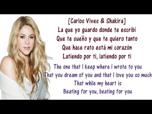 Carlos, Shakira - La Bicicleta - Lyrics English and Spanish - The bicycle - Translation Meaning