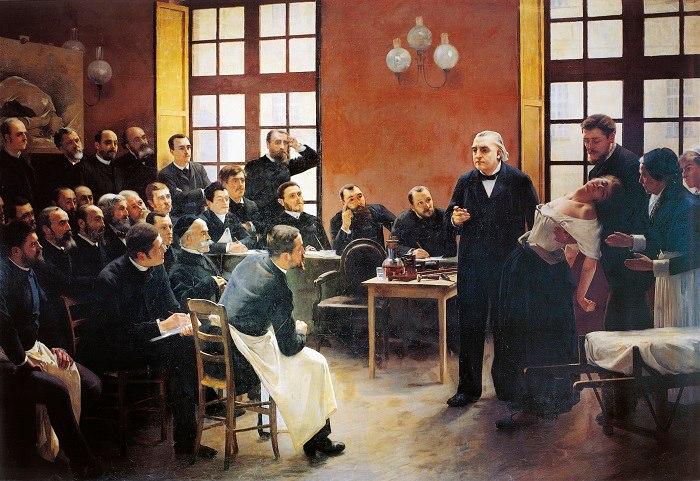 Пьер-Андре Бруйе, «Лекция в клинике Сальпетриер», 1887 г.