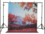LIFE MAGIC BOX Vinyl Autumn Tree Photographic Backdrops Photo Backdrop Wedding Backdrop Colorfull Background