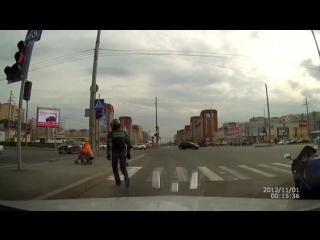 Лайк мотоциклисту!