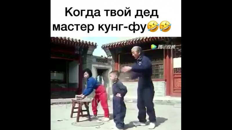 Когда твой дед мастер кунг-фу)