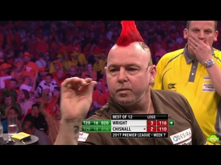 Peter Wright vs Dave Chisnall (2017 Premier League Darts / Week 7)