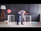 Сборка детской круглой кроватки-трансформер