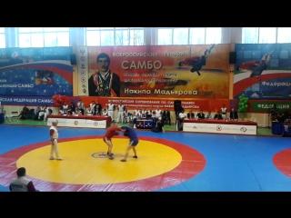 Финал мужчины 90 кг. XXVII Всероссийские соревнования по самбо памяти МСМК Н. Мадьярова 1 апреля 2017 г.
