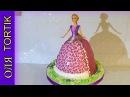 Торт Рапунцель мастер-класс Торт кукла Рапунцель Как собрать и украсить торт ку ...