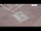 Aerial footage of Syrian airstrikes against ISIS south of Al-Bab in east Aleppo CS