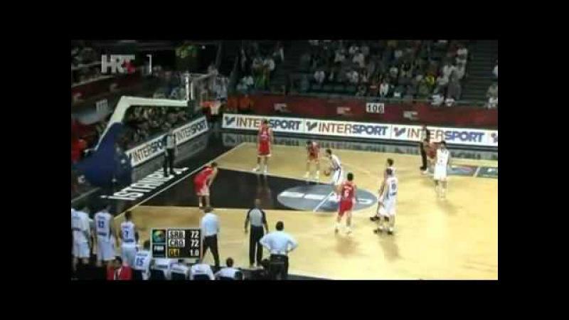 Srbija - Hrvatska 73 72 HRT 1 komentator: To mogu samo Srbi!