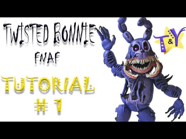 Как слепить Твистед Бонни ФНАФ из пластилина Туториал 1 Twisted Bonnie from clay Tutorial 1