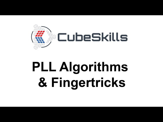 PLL Algorithms Fingertricks [From CubeSkills]