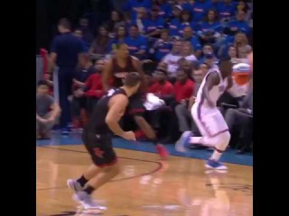 Victor Oladipo and the okc thunder are running early