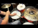 How to play drums Cascara with 3 2 Rumba Clave