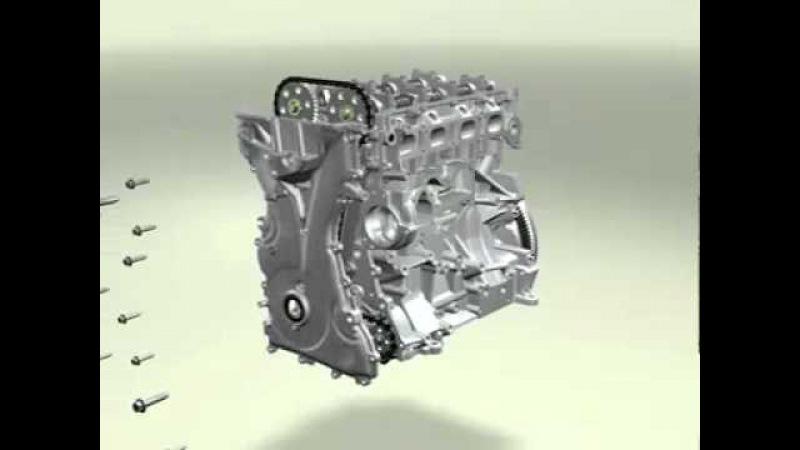 Двигатель хонда DOHC 4 cylinder engine Video часть1