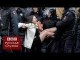 Героиня главного фото московских протестов Ольга Лозина