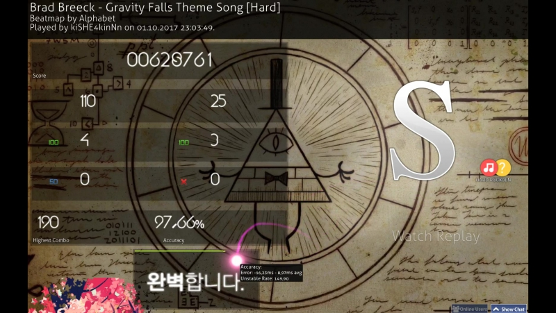 Brad Breeck - Gravity Falls Theme Song [Hard HR HD Perfect Not fail S{97,66%}]
