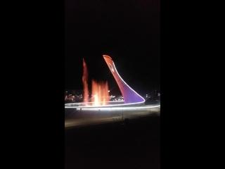 Олимпийский факел и поющие фонтаны!!! город Сочи