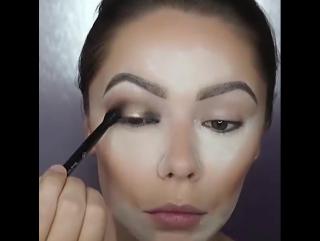 Строгий офисный макияж! Впечатляет!