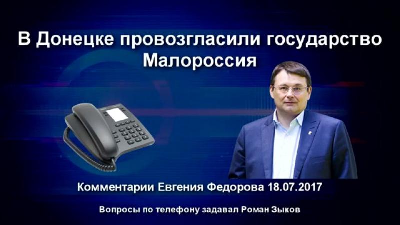 В Донецке провозгласили государство Малороссия. Комментарии Евгения Федорова 18.