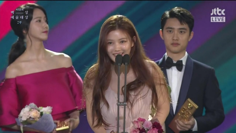 [CUT] 170503 EXOs D.O. - Win Star Century Popularity Award @ 53rd Baeksang Ar