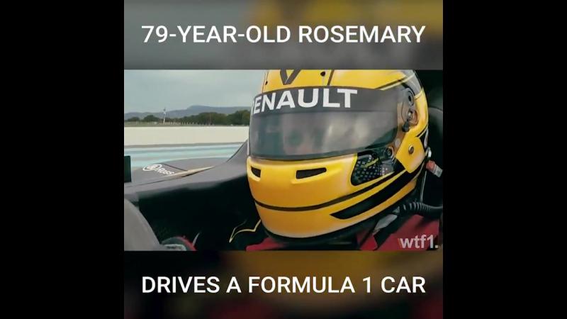 79-Year-Old Rosemary Drives A Formula 1 Car