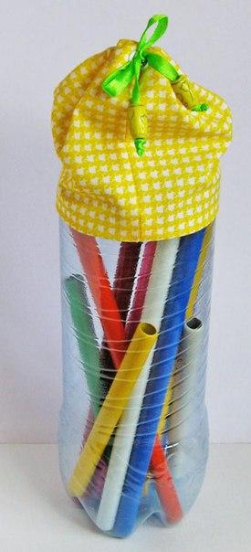 Коробочки для хранения из пластиковых бутылок