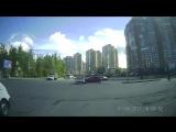 Авария Lada Kalina Sport vs Renault Clio