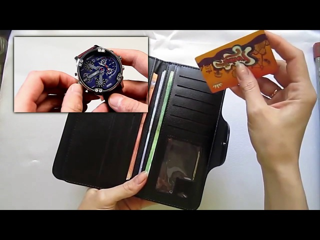 Комплект портмоне Hugo Boss часы Diesel Brave